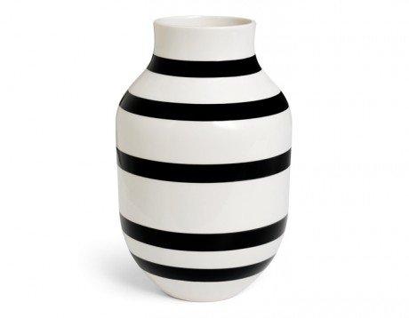 Kähler Omaggio Vase, Keramik, Schwarz-Weiß, 30,5 x 19,5 cm (Große Keramik Vasen)
