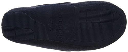 Isotoner Herren Mens Jersey Moccasin Slipper Niedrige Hausschuhe blau (marineblau)