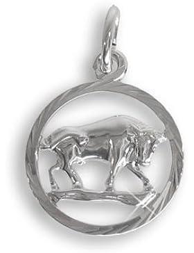 Sternzeichen Anhänger für Kinder Stier Sterling Silber 925 (213278)