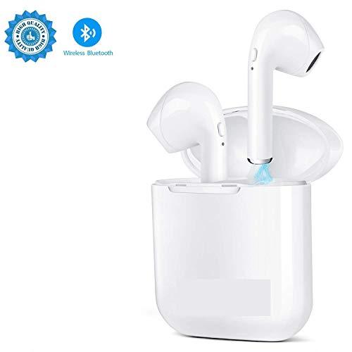 Wireless Bluetooth Headset V4.2 In-Ear-Kopfhörer kabellose Headsets Stereo-Mini-Kopfhörer wasserdicht Geräuschunterdrückung mit Ladekoffer und eingebautem Mikrofon