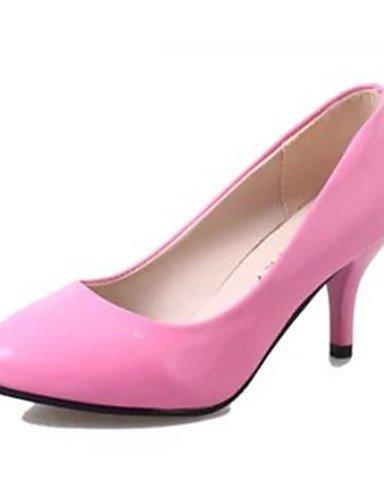 GS~LY Da donna-Tacchi-Casual-Tacchi-A stiletto-PU (Poliuretano)-Nero / Rosa / Rosso / Bianco / Fucsia white-us6.5-7 / eu37 / uk4.5-5 / cn37