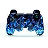 Gebaisi Schutzfolie für Sony Playstation 3 PS3 Controller, Vinyl, Blau