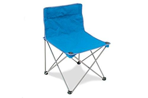 CON.VER. Fauteuil Storm Pliable en Fer avec Tissu textilène Bleu + Poche pour Le Transport – Idéal pour Camping