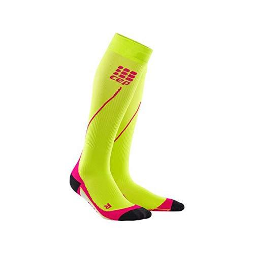 long running socks for women, orange / pink, size III, compression sport socks ()