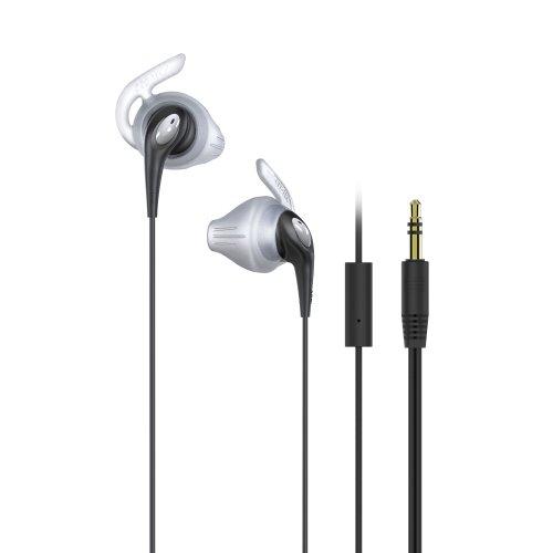 iLuv FitActive Run Headset Binaural mit Kabellos, schwarz Kopfhörer und Micro-Headsets und Tonabnehmer (Binaural, Ohrhörer, schwarz, kabelgebunden, Lesung/Pause, Track >, Universal) -