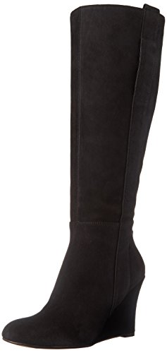 Nine West Women's Oran-Wide Suede Knee High Boot, Black, 5 M US (Nine West High Knee Boots)