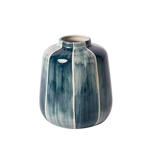 C-J-Xin Handgefertigte Keramikvase, Desktop Esstisch Kaffeetisch Dekoration Vasen gefälschte Blume Blumenschmuck Vasen Dekor Vasen (Size : 16 * 20CM) (Blumen Vase Mit Hocker)