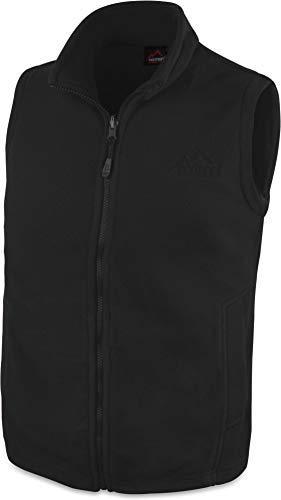 280 g/m² Herren Fleeceweste für den Übergang mit Taschen und Stehkragen - leicht, elegant, funktional Farbe Schwarz Größe L