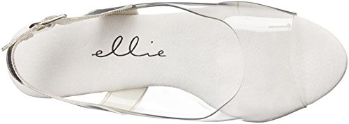 Ellie Shoes , Damen Sandalen Farblos