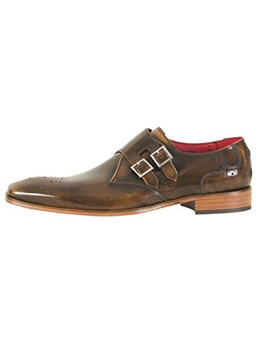 Jeffery West Men's Scarface Polished Leather Shoes, Brown, 10 UK