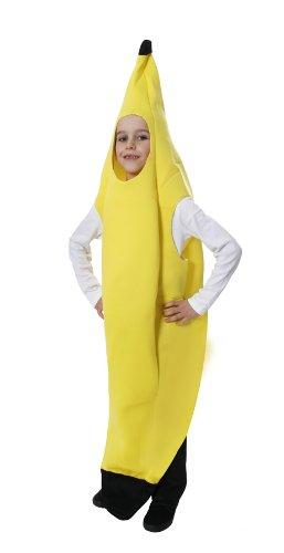 Kinder-gelbe Bananen Kostüm Alter 7-9 (Kostüm Banane Eine)
