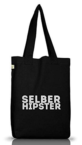Musik Jutebeutel Stoffbeutel Earth Positive Selber Hipster Black