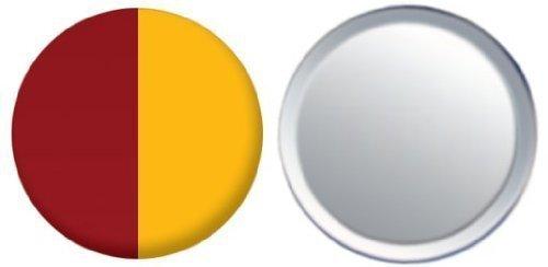 Miroir insigne de bouton Italie Rome drapeau - 58mm
