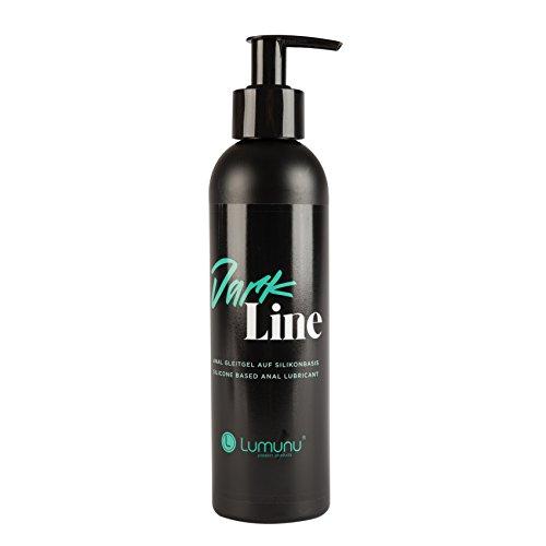 Deluxe Silikonbasiertes Anal Gleitmittel DARK LINE, Gleitgel speziell für Männer & Anal-Sex (250ml)