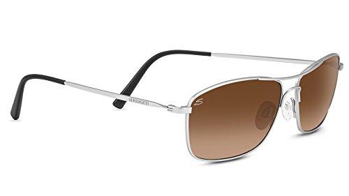 Serengeti corleone occhiali da sole con lenti polarizzate, lente marrone/grigio (satin titanium), s/m