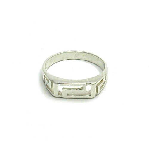 Sterling silber Ring Mäander 925 Empress Größe 46-64