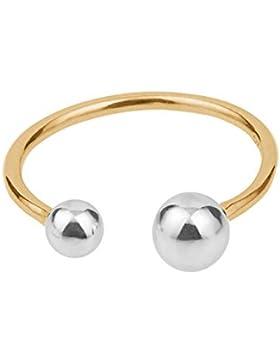 Pernille Corydon Damen-Ring Pasodoble Two Tone 925er Sterlingsilber vergoldet verstellbar r-552