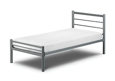 Alpen Metal Aluminium Finish Bed With Luxury Spring Mattress: All Sizes Available - cheap UK light store.