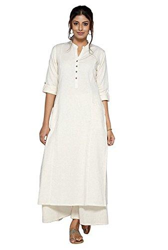 Muta Fashions Cotton White Women Kurti