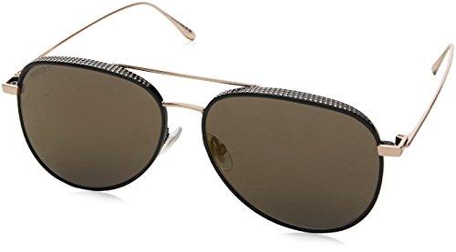 Jimmy Choo Damen RETO/S HJ PL0 57 Sonnenbrille, Schwarz (Bkgdcopp Blk/Gun Metal Fl),