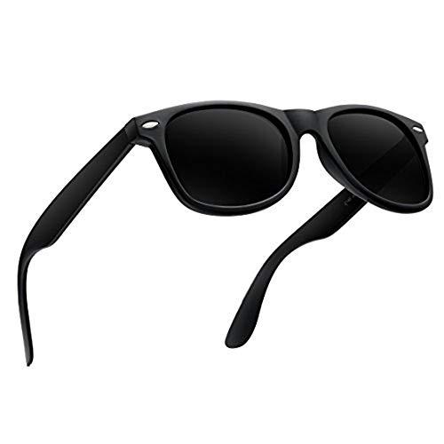 wearPro Polarisierte Fahren Sonnenbrille Herren männer Ultra Leicht WP1001 (Matteblack, 2.16)