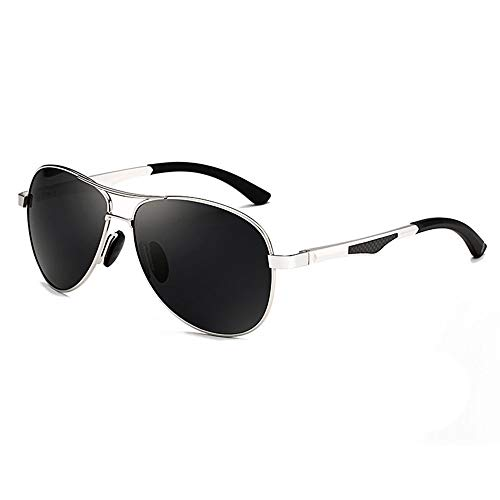 SCJS Herren Sonnenbrille Aviator Sonnenbrille Driving Polarized Sonnenbrille 100% UV400 Schutzbrille (Farbe: C)