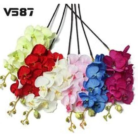 Nuevos 30pcs pequeños arcos de la cinta de flores apliques de raso de tela coser Un montón de artesanía Kid Upick A128 azul