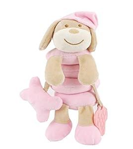Duffi Baby-Peluche Espiral Perrito, 100% Poliéster, Color Rosa (Master Baby Home, S.L. 0765-06)