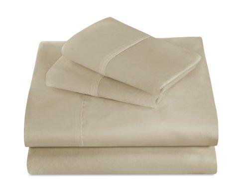 Unbekannt Best Nachtruhe 440Fadenzahl 100Prozent Supima Baumwolle Spannbetttuch Sets California King grün, latte, King Size (Supima-baumwolle Bath Sheet)