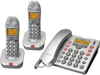 Audioline Big Tel 182 Duo Combo mit AB Schnurlostelefon