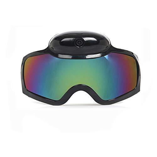 HM2 HD 1080P Skifahren Sonnenbrille Kamera, 120 ° Weitwinkel Sonnenbrille DVR Videokamera Smart Brille, für Outdoo, zum Skifahren - Schwarz 120 Fps Dvr