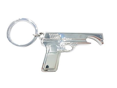 Desert Eagle Pistole Schlüsselanhänger mit Flaschenöffner aus Shooter Games sehr massiv 8cm