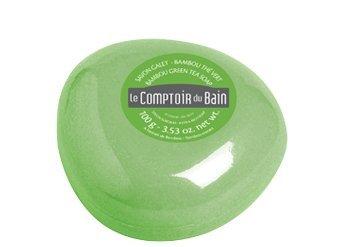 Le Comptoir du Bain Jabón Extra-Rico con Extracto de Bambú, Té Verde y Manteca de Karité 100 g