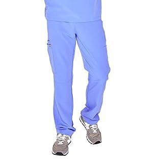 FIGS Medical Scrubs Men's Axim Cargo Scrub Pants (Ceil Blue, M)