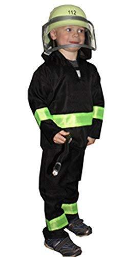 Unbekannt FIG 1132 Feuerwehr-Anzug für Kinder Gr.116, Schwarz