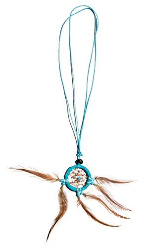 Dreamcatcher Kette Traumfänger Halskette Auto Deko Türkis (länge verstellbar)