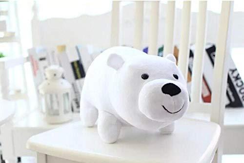 YRBB Peluche Neonati 1Pc 25Cm Siamo Orsi Nudi Orso Cartone Animato Peluche Ripiene Bambola Solft Grizzly Grigio Orso Bianco Panda Regalo di Compleanno Giocattolo per Bambini