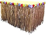 Nylon Tiki Table Skirt (108in x 29in) - Tropical Hawaiian Party Decorations
