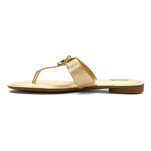Michael Kors Tongs Hamilton Flat pale gold