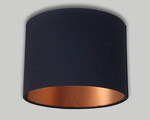 Pantalla lámpara lino hecha mano forro dorado 30