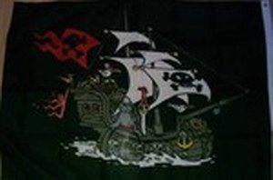 Flagge Fahne Piraten Schiff Schwarz 90x150cm