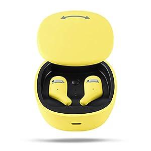 ZMDHL Bluetooth-Headset für Laufsport TWS Headset Stereo Bluetooth 5.0 Headset IPX6 Wasserdicht In-Ohr-Kopfhörer Noise Reduction,Schwarz
