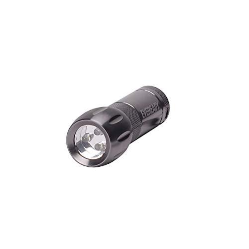 Eveready KOMPAKT 3-LED Metall Taschenlampe (Batterien im Lieferumfang enthalten) -