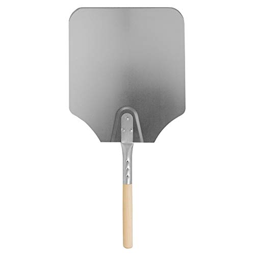 "Argon Tableware 12 x 14"" Aluminium Pizza Peel - 61cm Wooden Handle Professional Pizza Paddle"