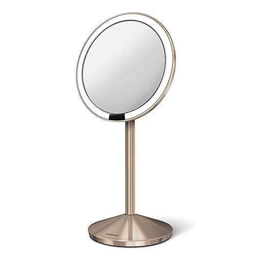 Simplehuman ST3010 Espejo con Sensor de 12 cm, Rosa Oro