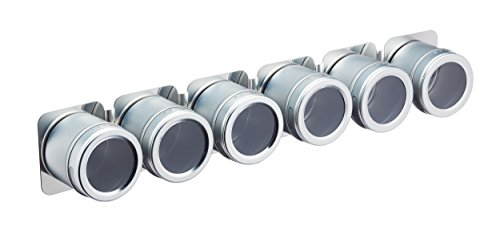 Master Class magnetisch/Wandmontage Gewürzregal mit 6Gewürzgläsern, 43cm (43,2cm)