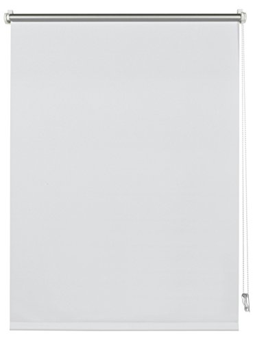 Deco Company Thermo-Rollo mit Thermo-Rückseite zum Klemmen, Höchste Lichtreflektion, Energiesparend, Lichtundurchlässig, Alle Montage-Teile inklusive, Weiß, 95 x 150 cm (BxH)