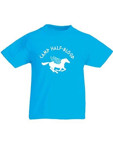 Preisvergleich Produktbild Camp Half-Blood, Kind-druckten T-Shirt - Azurblau/Weiß 12-13 Jahre