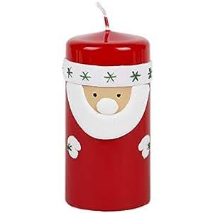 Casa Di Babbo Natale Candela.Candela Babbo Natale Candele Di Natale Candela Rosso Bianco 6 X 12