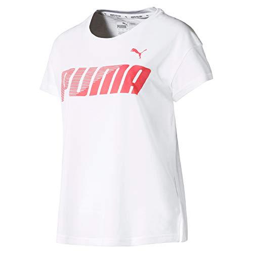 PUMA Damen MODERN Sport Graphic Tee T-Shirt, White, - Shirts Damen Sport Puma